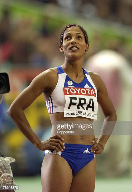9th World Championships in Athletics Paris France 29th August 2003 Womens 4 x 100m Relay heats Christine Arron of France
