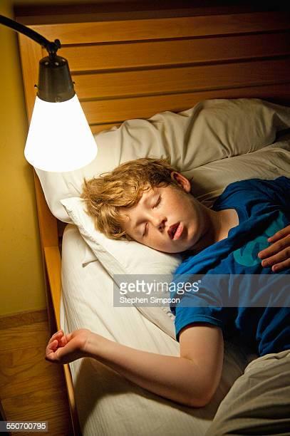 9-year-old boy sleeping