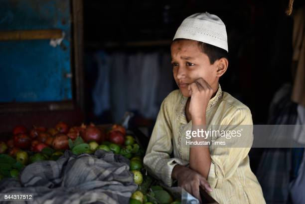 9yearold Rohingya Muslim Ubadul on September 6 2017 in New Delhi India He studies at madarsa at Shastri Park I was born in Burma he says We left when...