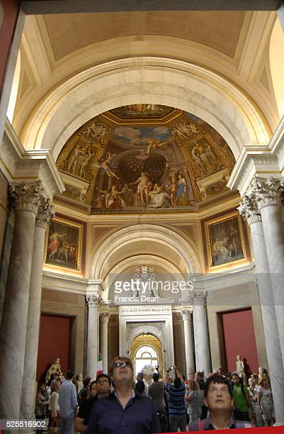 _Travelers visitn vatican and Cost $75 US dollars to visit Vatican gallery and museum and sistene chapel at Vatican 1 Sept. 2012