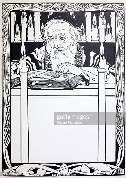 a 1903 illustrated volume of Yiddish poems by Morris Rosenfeld translated into modern German The illustrations depict the life of a tailor and his...
