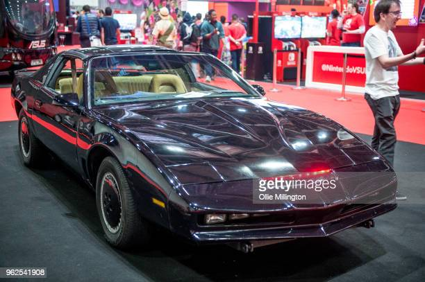 A a 1982 Pontiac Firebird used onscren in Night Rider seen on Day 1 of the MCM London Comic Con at The ExCel on May 25 2018 in London England