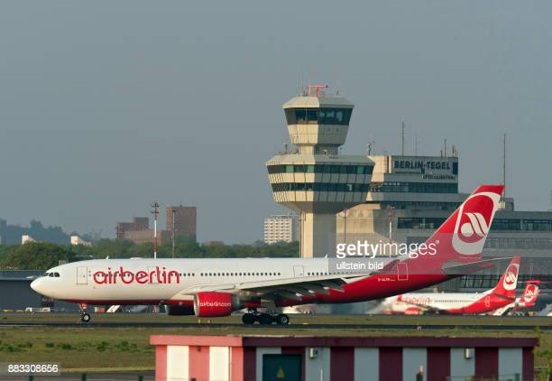 a Airbus A330 of the airline AirBerlin at Tegel Airport