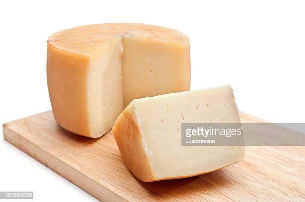 Un grand cercle tranche de fromage Idiazab Basque