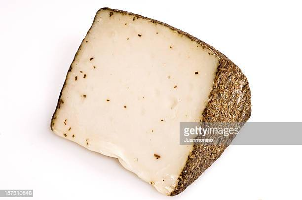 a big sliced chunk of Manchego cheese