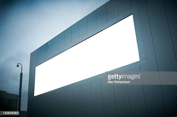 a blank advertising sign