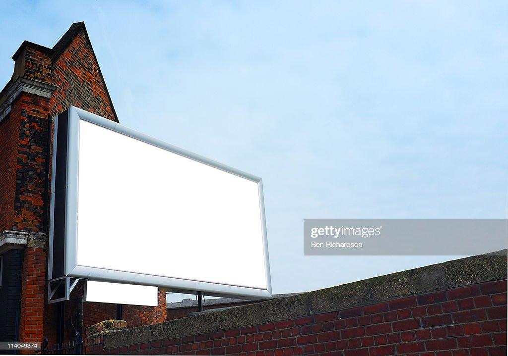a blank billboard : Foto de stock
