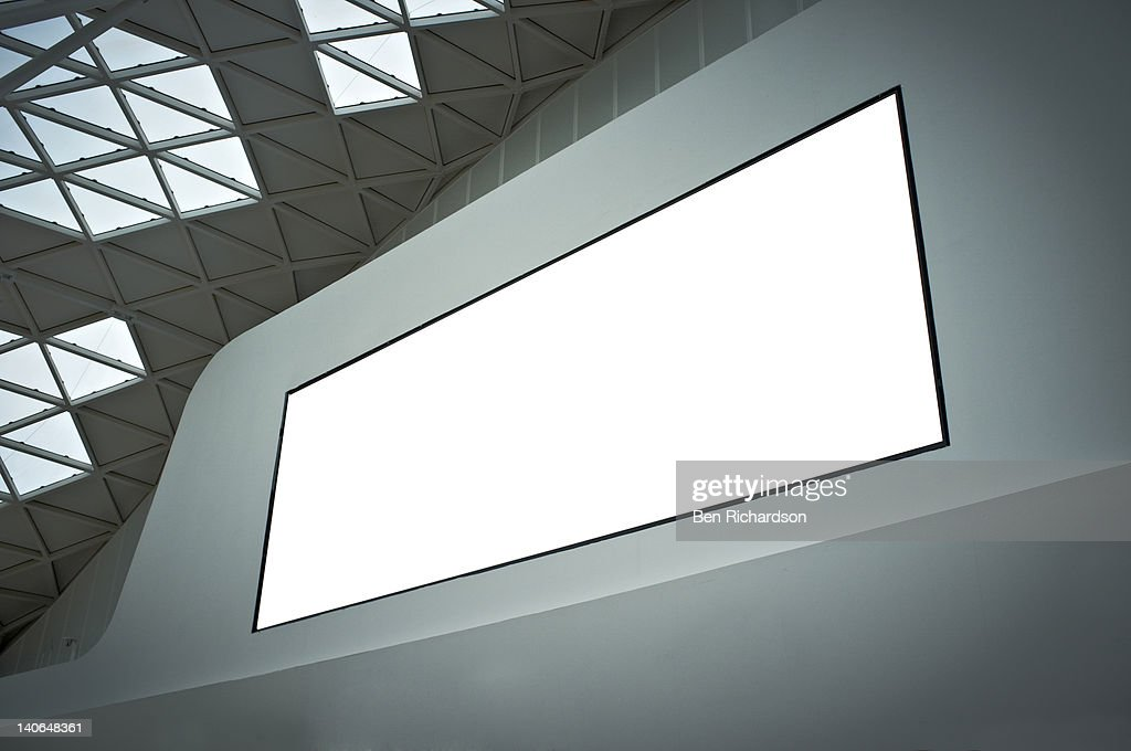 a blank billboard : Foto stock