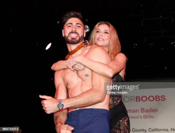 a Brandi Glanville and a Participating Bachelor attend the Babes for Boobs live auction benefiting Susan G Komen LA at El Rey Theatre on June 7 2018...