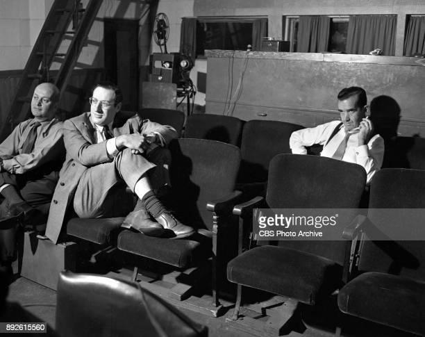 NOW a CBS News documentary program CBS News reporter Edward R Murrow with show producer Fred Friendly New York NY October 17 1952