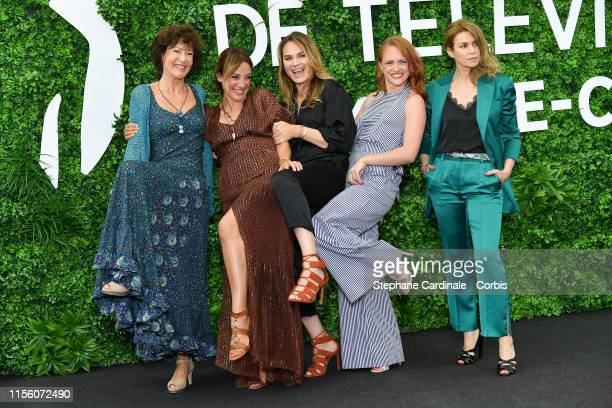a Chrystelle Labaude Emma Colberti Melanie Maudran Melanie Robert and Valerie Kaprisky from the serie Un Si Grand Soleil attend the 59th Monte Carlo...
