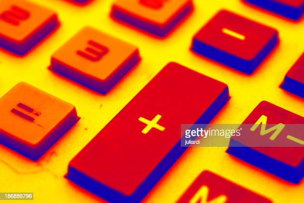 a closeup of business calculator pad  +