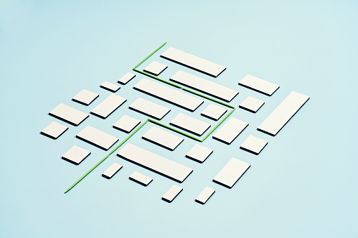 a conceptual image of green line laid threw a maze - gettyimageskorea