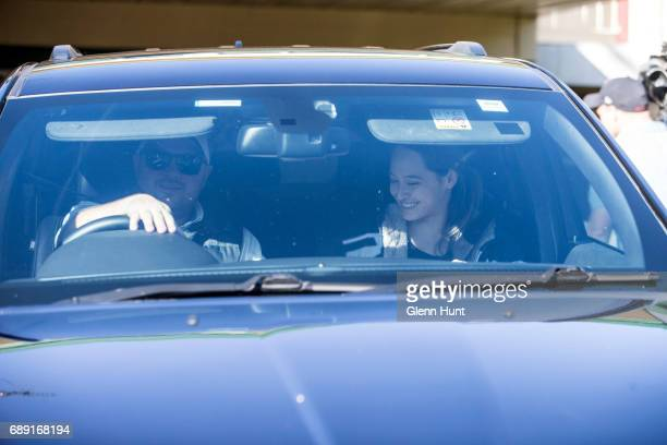 a Corby security entourage leave the home Schappelle Corby's mother in Loganlea on May 28 2017 in Brisbane Australia Schapelle Corby was arrested in...