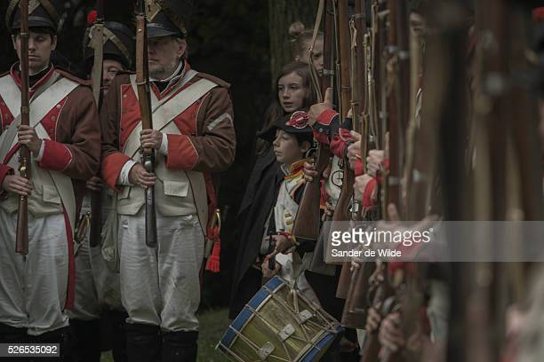 a drummer boy between the troups The Battle of Waterloo was reenacted this weekend 22 23 June 2013 in Waterloo Belgium by a few hundred actors in the...