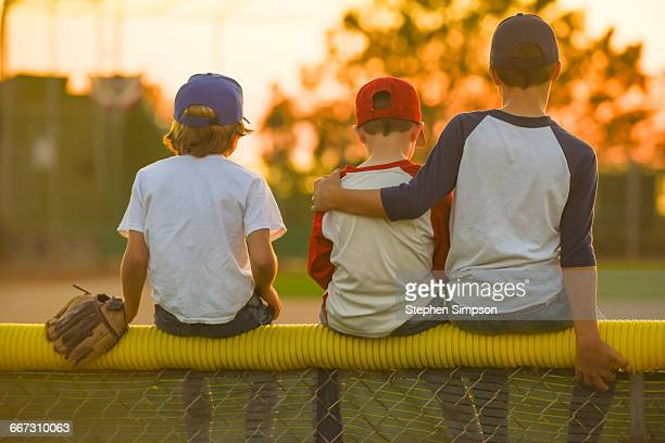 a family evening at the little league field - little league stock pictures, royalty-free photos & images
