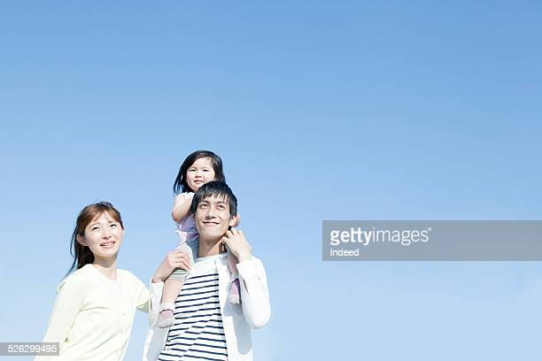 a family making a pose