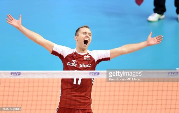 a fan of Poland during Poland v France pool H during 2018 FIVB Volleyball Men's World Championship ItalyBulgaria 2018 Varna Bulgaria on September 22...
