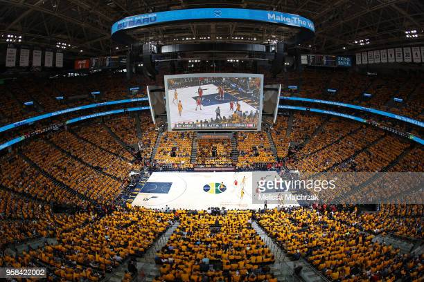 a general view of the arena during Game Four of the Western Conference Semifinals of the 2018 NBA Playoffs between the Houston Rockets and Utah Jazz...
