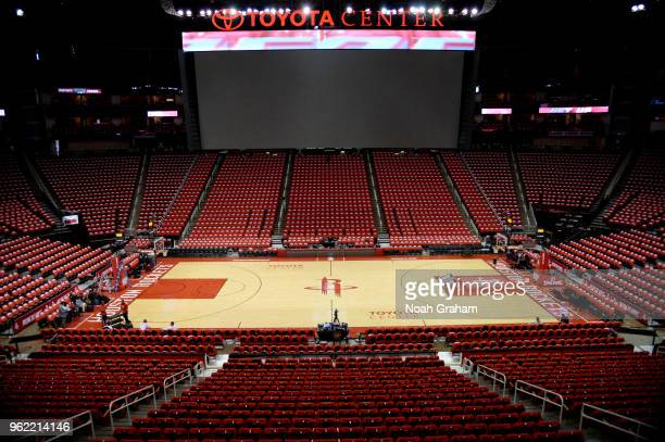A general view of the arena prior to Game Five of the Western Conference Finals during the 2018 NBA Playoffs between the Golden State Warriors and...