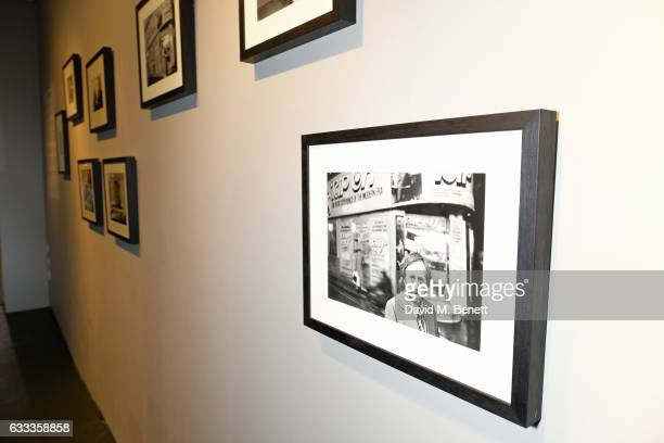a general view of the atmosphere at a private view of 'A Paul Raymond Show' an exhibition curated by Alex Wood and India Rose James at Soho Revue on...