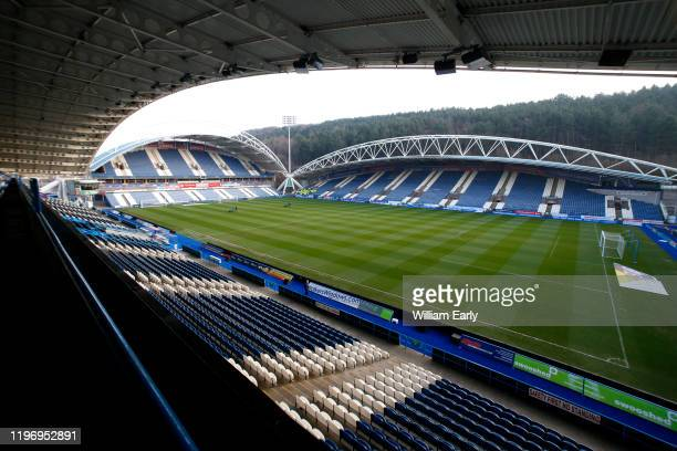 A general view of the John Smith's Stadium during the Sky Bet Championship match between Huddersfield Town and Stoke City at John Smith's Stadium on...