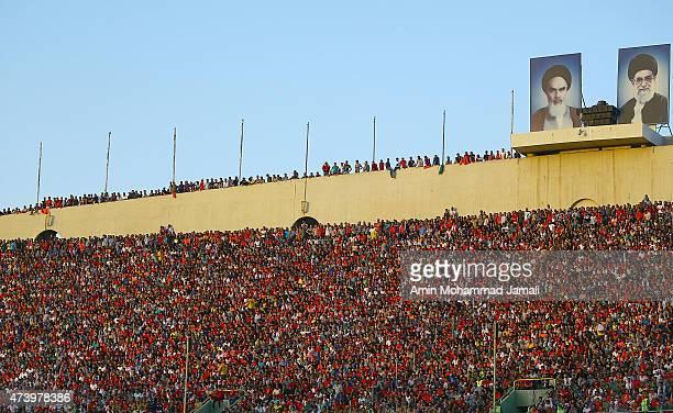 a genral view of azadi stadium during Persepolis vs Al Hilal AFC Champions League at Azadi Stadium on May 19 2015 in Tehran Iran