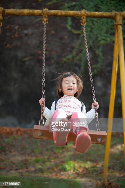 a girl on a swing