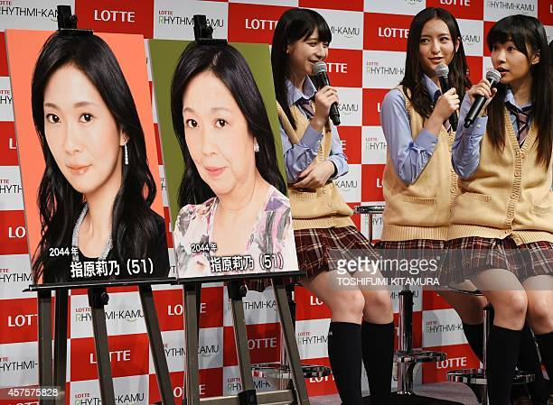 HKT48 a girls pop group member Rino Sashihara comments on the two ways of her 30yearlaterexpected pictures with Natsumi Matsuoka and Madoka Moriyasu...