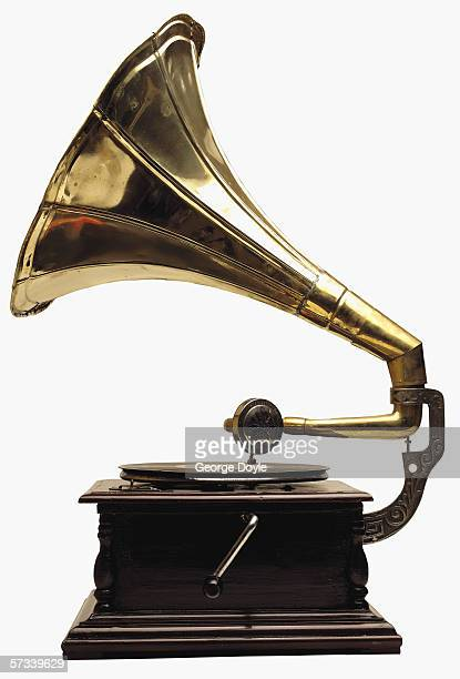 a gramophone player - gramophone stock pictures, royalty-free photos & images