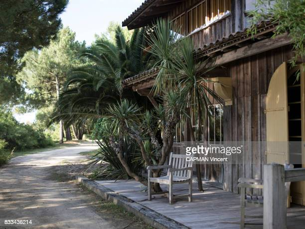 a house Les Cabanes of Benoit Bartherotte on july 05 2017 in Cap Ferret France