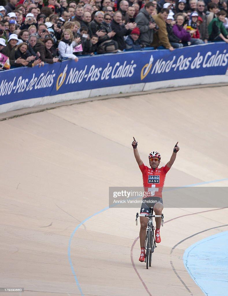 Paris-Roubaix 2010. Fabian Cancellara. : News Photo