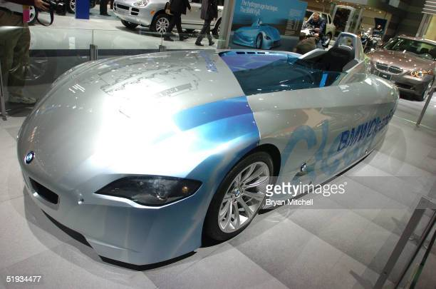 H2R a hydrogen powered vehicle is revealed to the automotive media at the North American International Auto Show January 10 2005 in Detroit Michigan