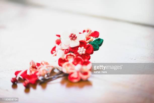 「簪」と呼ばれる日本の装飾用ヘアピン - 髪飾り ストックフォトと画像