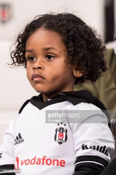 a kid of Atiba Hutchinson of Besiktas JK during the Turkish Spor Toto Super Lig football match between Besiktas JK and Trabzonspor AS on December 16...