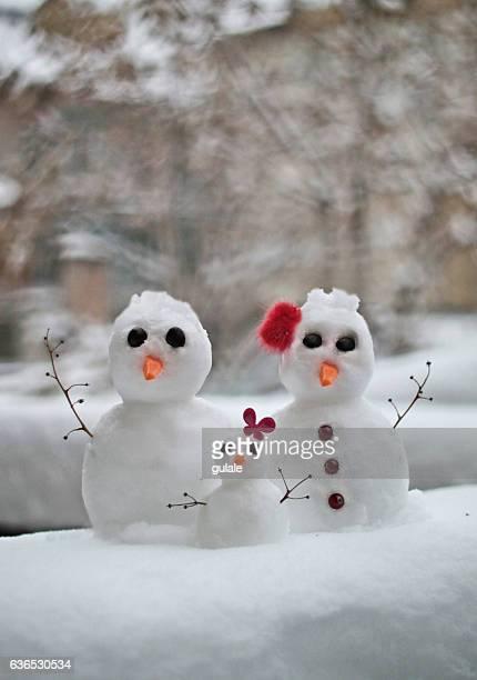 a little snow family