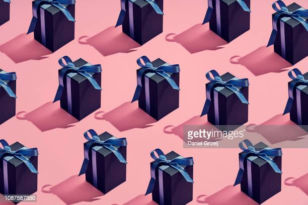 a lot of presents placed in a pattern - light effect stock pictures, royalty-free photos & images