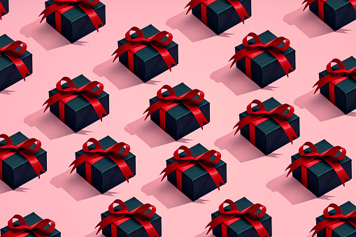 a lot of presents placed in a pattern - gettyimageskorea
