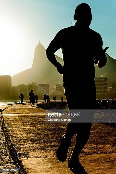 a man running in Brazil