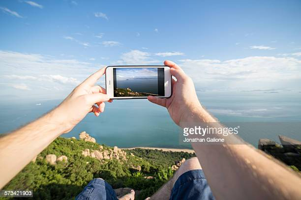 POV of a man taking a photo