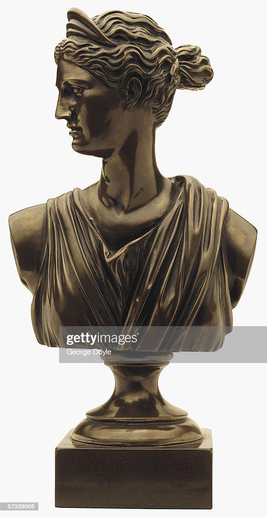 a metal bust : Foto de stock