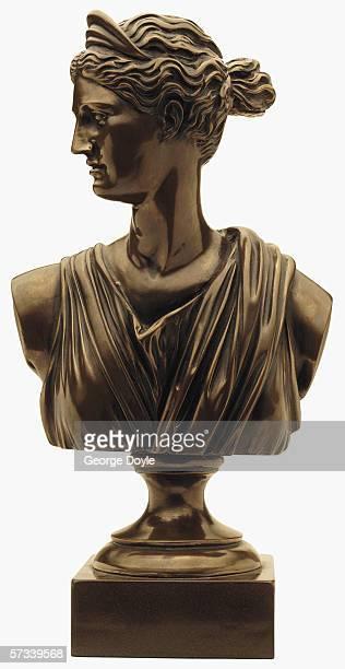 a metal bust