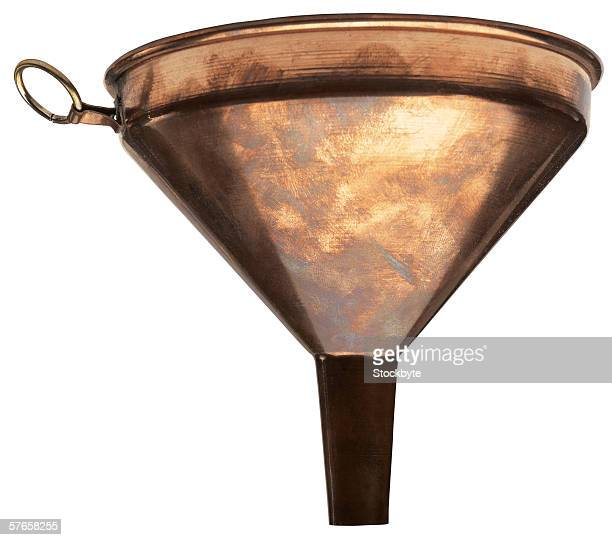 a metal funnel