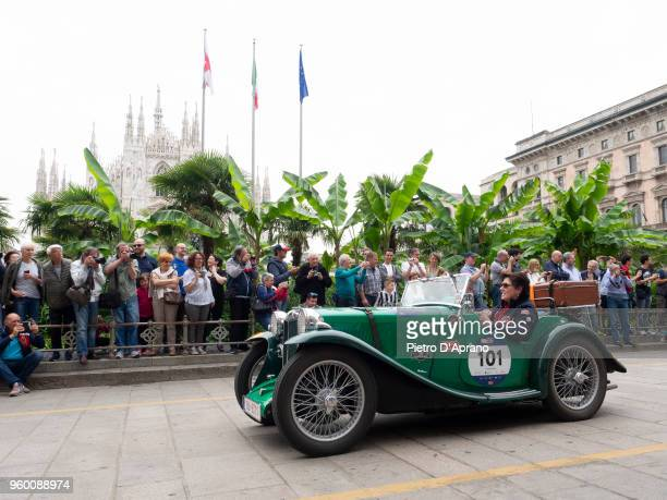 a MG PB during 1000 Miles Historic Road Race on May 19 2018 in Milan Italy