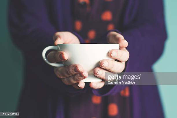 a nice cup of tea... - catherine macbride stock pictures, royalty-free photos & images