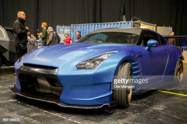 a Nissan GTR 35Êused on screen by Paul Walker in Furious 7 seen during the 'Fast Furious Live' technical rehearsal at NEC Arena on December 18 2017...