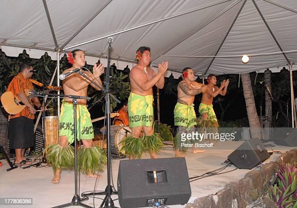 "A r l M o i k, einheimische Hula-Tänzer, Musiker, Musik-Show ""Aloha & Servus"", ""Sheraton Hotel"", Honolulu, Insel Oahu, Hawaii, Amerika, USA,..."