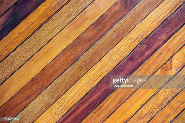 a real wood planked flooring with different shades - slanted stock photos and pictures