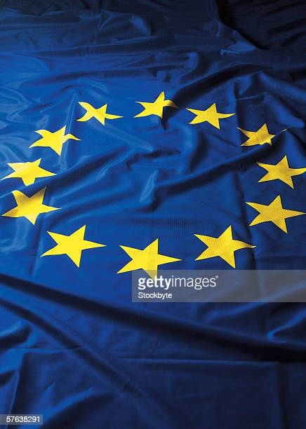a ruffled flag of the European union