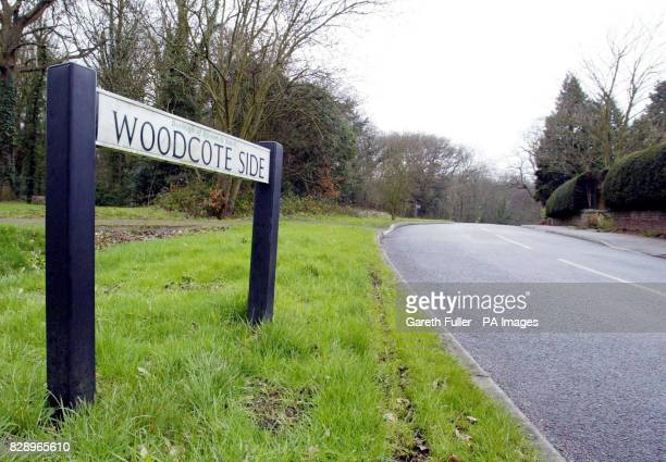 a sign for Woodcote Side Epsom in Surrey where a 26 yearold woman was raped August 07 2002 in a wooded area off the Woodcote Side The serial rapist...